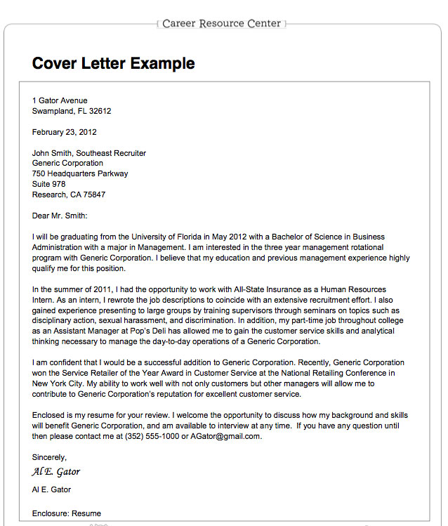 ... Center website provides advice on writing cover letters and resumes